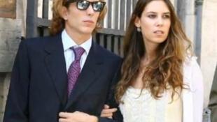 Andrea Casiraghi e Tatiana Santo Domingo.