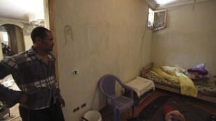 La chambre de la maison où les quatre Egyptiens chiites ont été lynchés à Zawyet Abou Mossalem, le 24 juin 2013.