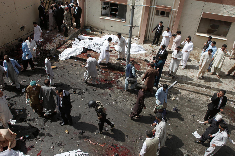 Bệnh viện ở Quetta, Pakistan bị đánh bom hôm 08/08/2016.