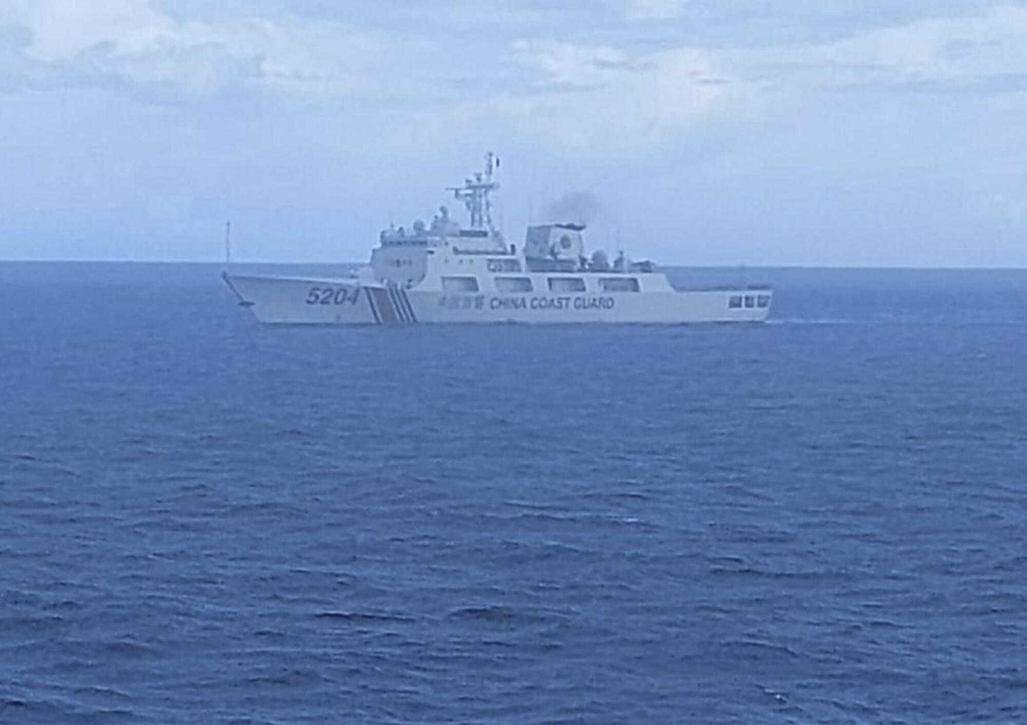 Một tàu hải cảnh Trung Quốc hiện diện ở vùng biển phía bắc Natuna, Indonesia. Ảnh do hải quân Indonesia công bố ngày 15/09/2020.