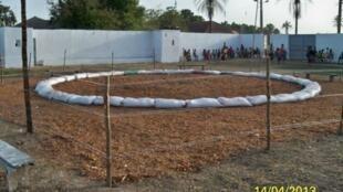 Imagem de recinto de lutadores da página Facebook da Federação de luta da Guiné Bissau