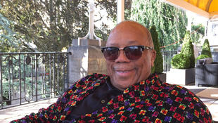 Quincy Jones à Montreux en juillet 2017, au micro de Joe Farmer.