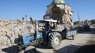 Mossoul, deuxième ville du pays, dévastée par les combats, fut un temps la «capitale» irakienne du groupe EI.