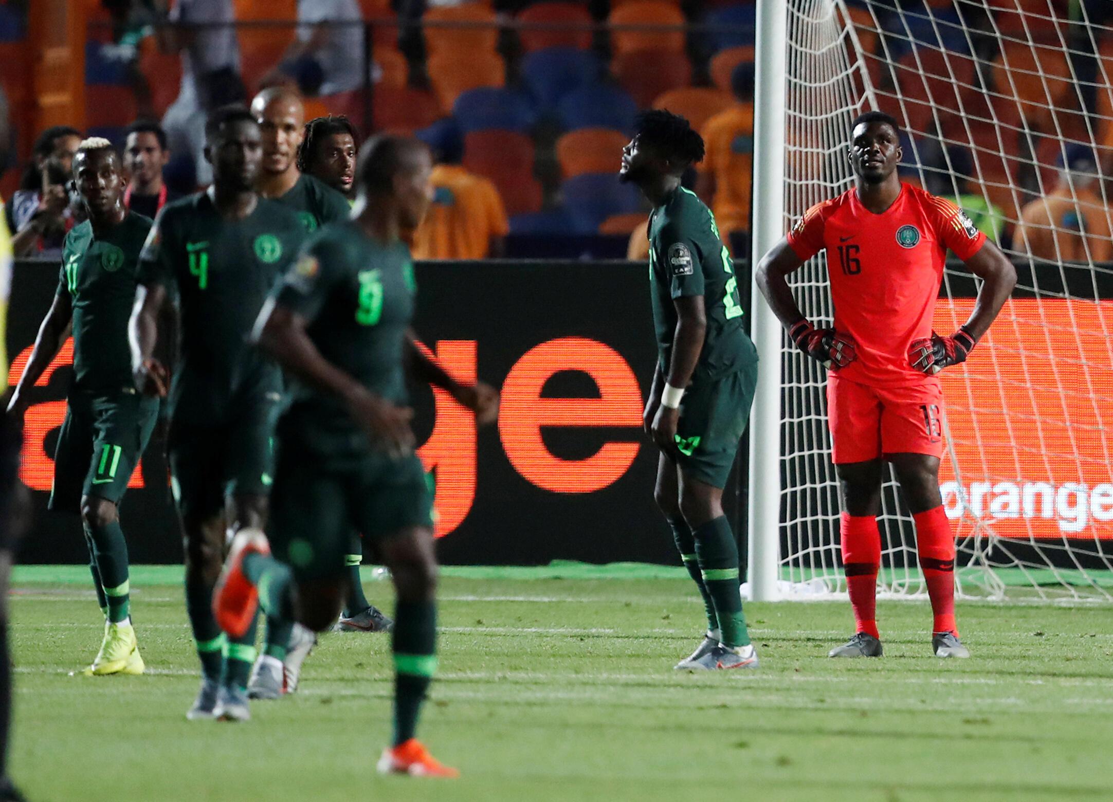 Les Nigérians, KO après le but de la victoire de l'Algérie inscrit dans le temps additionnel de la demi-finale.