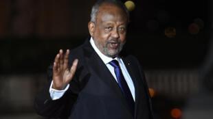 El presidente de Yibuti, Ismael Omar Guelleh, el 10 de noviembre de 2018 en París, Francia