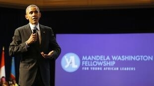 Le président Barack Obama, au sommet des jeunes leaders africains à Washington, le 28 juillet 2014.