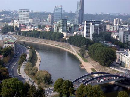 Vilnius, capitale de la Lituanie.