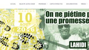 Lahidi - promesse - guinée - blog - capture d'écran