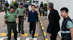 涉案香港青年陳同佳刑滿出獄資料圖片