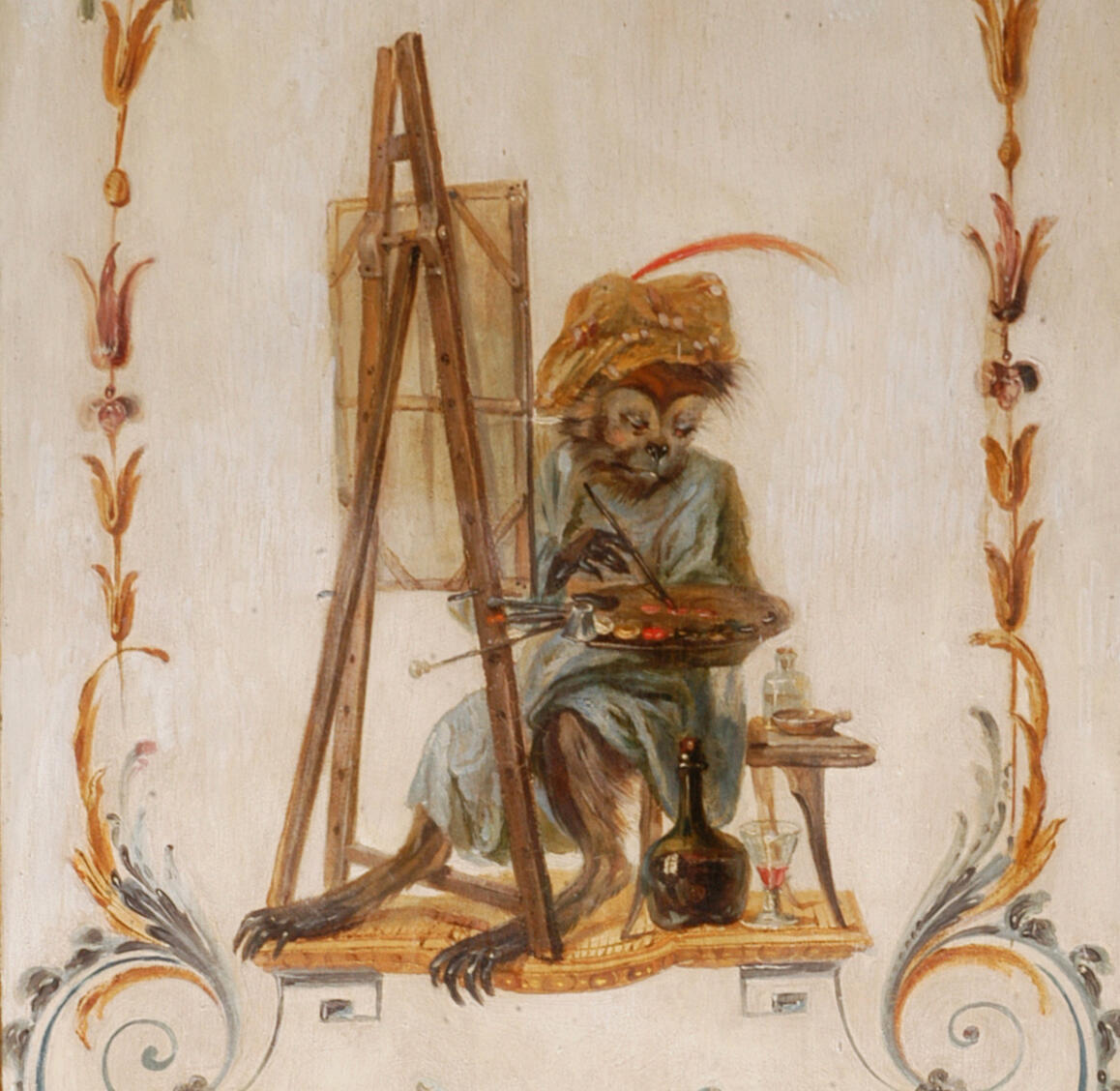 一只画画的猴子