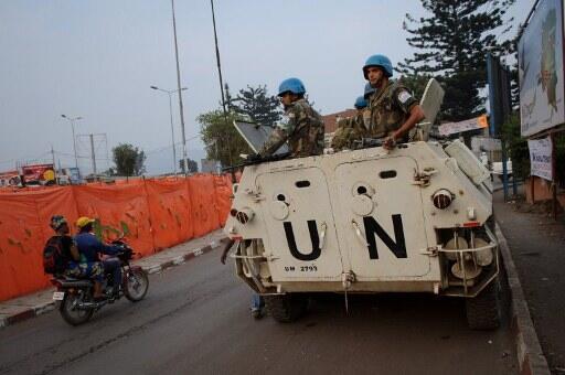 Les chars de la Monusco patrouillent dans Goma.