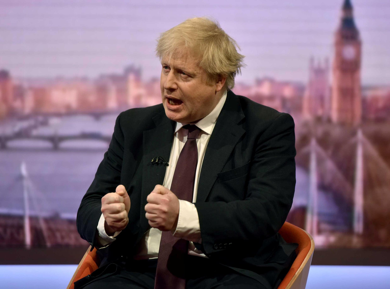 بوریس جانسون وزیر امور خارجۀ بریتانیا