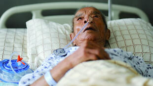 山东93岁抗战老兵因住医院欠费遭停药引关注 中文网络照片 DR