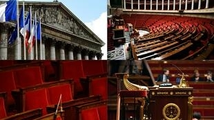 Le palais Bourbon, siège de l'Assemblée nationale française, chambre basse du Parlement.
