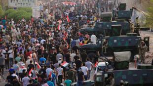 Manifestation à Bassora le 5 septembre 2018.