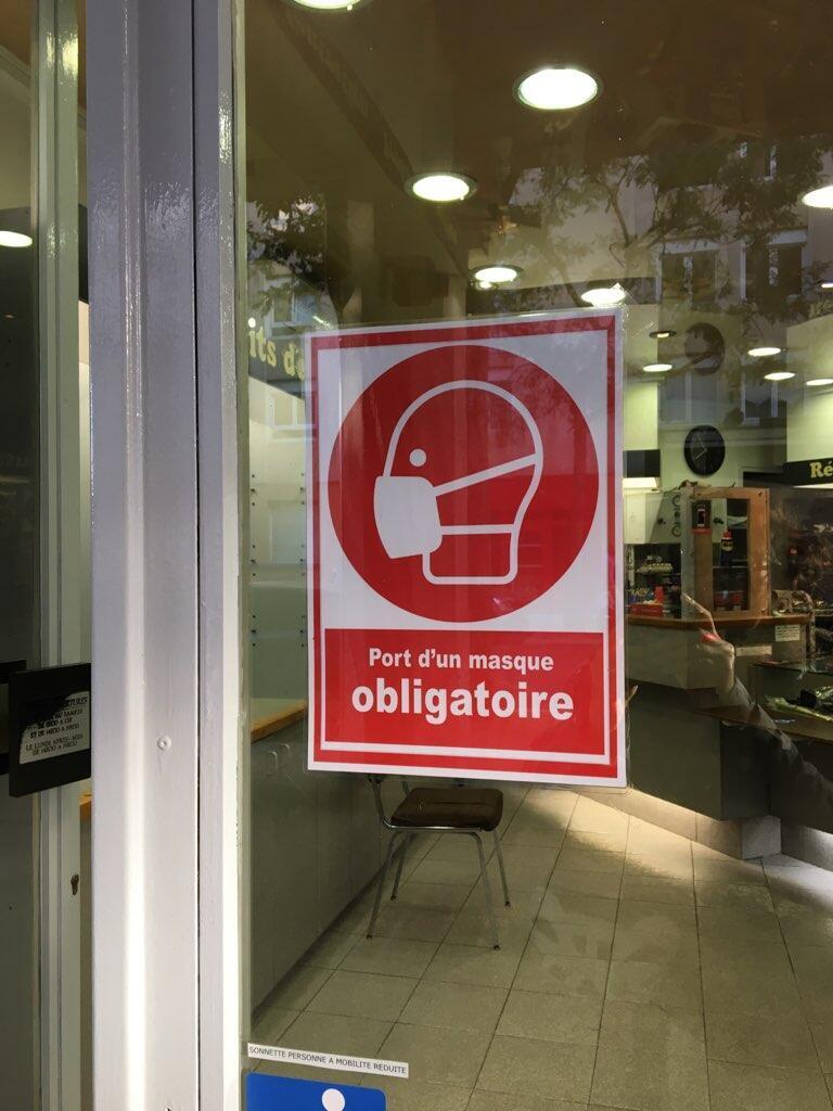 Port du masque obligatoire dans tous les magasins
