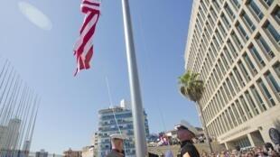 پرچم آمریکا درسفارت این کشور در هاوانا پایتخت کوبا افراشته شد. ٢٣ مرداد/ ١٤ اوت ٢٠١۵