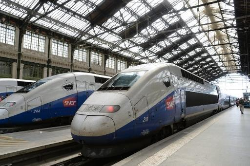 TGV trains in station