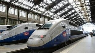 O TGV chega a Estrasburgo