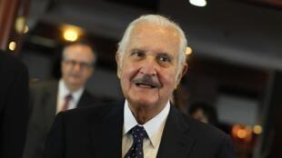 Carlos Fuentes, en marzo pasado al anunciar el Premio Formentor de literatura en Ciudad de México