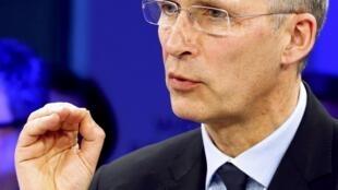 Tại diễn đàn Davos, tổng thư ký NATO Jens Stoltenberg cảnh báo trước nguy cơ tấn công tin học. Ảnh ngày 19/01/2017