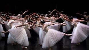 "Paris Opera dancers perform at the Palais Garnier during a dress rehearsal of ""Giselle"" in January last year."