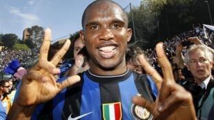 Après Barcelone, Samuel Eto'o a connu ses grandes heures sous les couleurs de l'Inter.