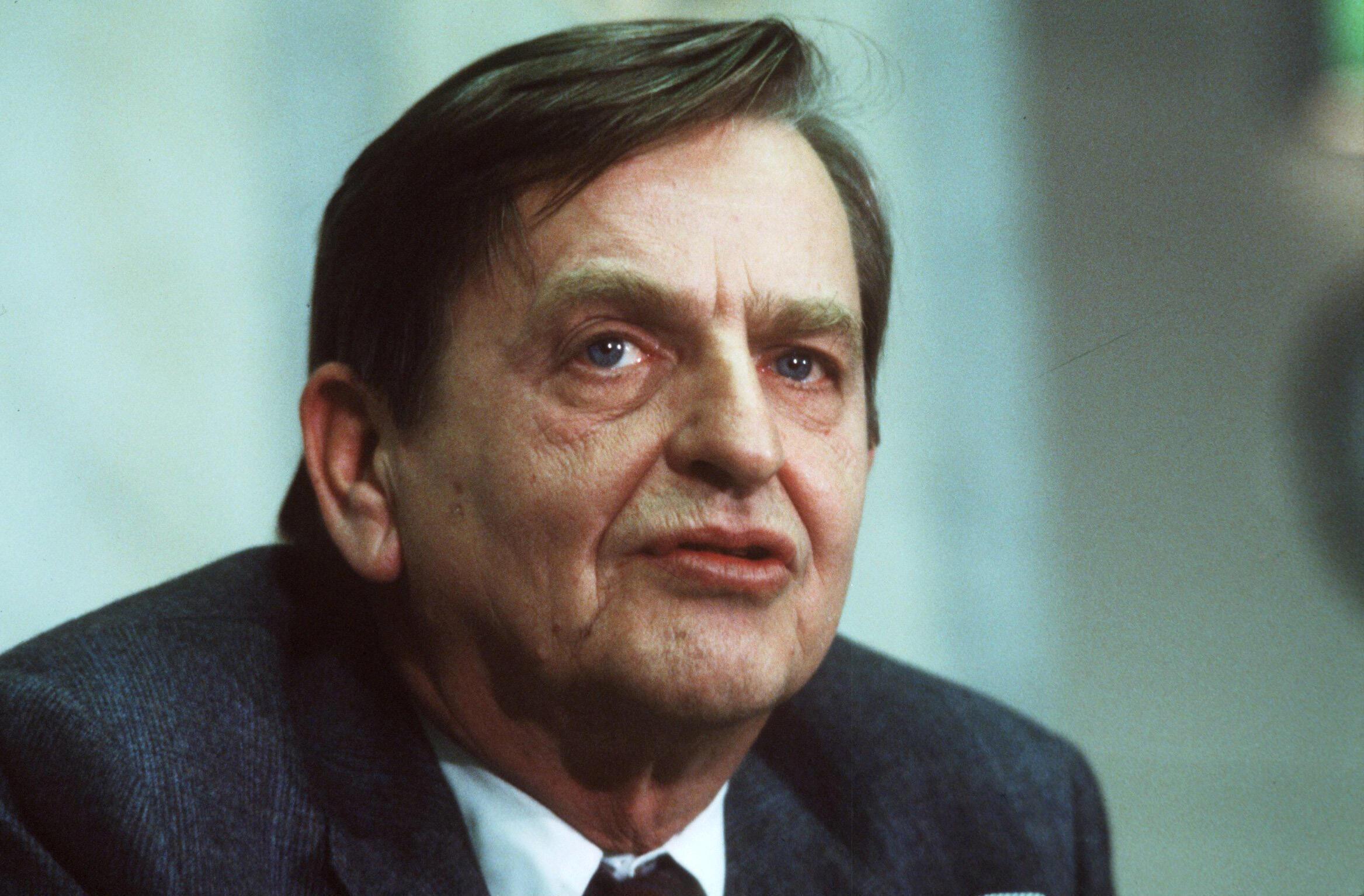 Le Premier ministre suédois Olof Palme, photographié le 12 décembre 1983.