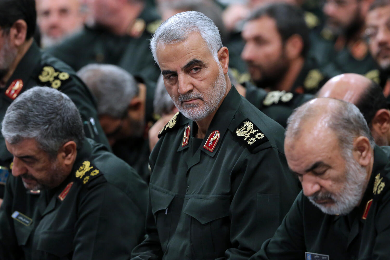 Le général Qassem Soleimani lors d'une réunion avec les Gardiens de la Révolution à Téhéran en 2016.
