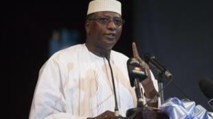 Modibo Sidibé, président des FARE, les Forces alternatives pour le renouveau et l'émergence et ancien Premier ministre d'Amadou Toumani Touré (Ici, en campagne pour la présidentielle malienne, le 19 juillet 2013).