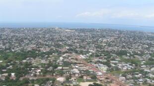 Une vue aérienne de Port-Gentil au Gabon.