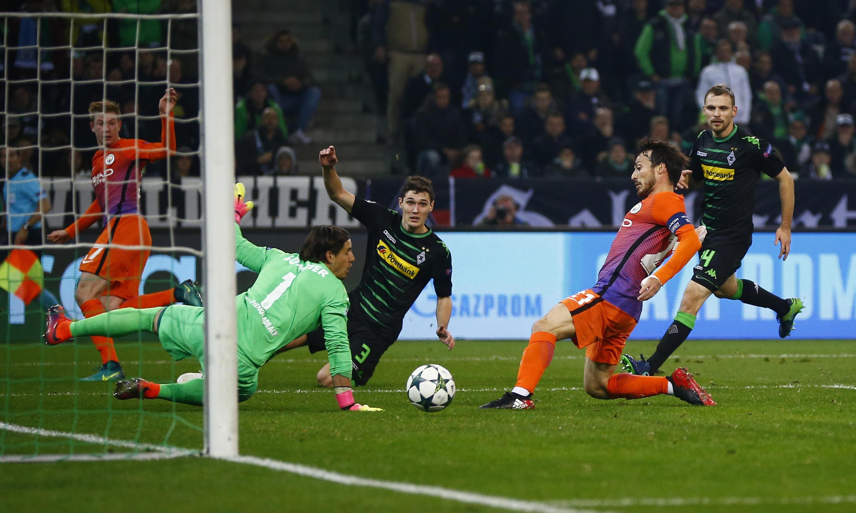 David Silva ne ya jefa wa Manchester City kwallonta a ragar Borussia Monchengladbach