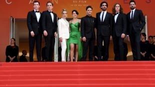 L'équipe du film «Matthias and Maxime», le nouveau Dolan.