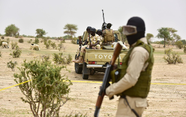 Soldados do exército do Níger. Imagem de arquivo