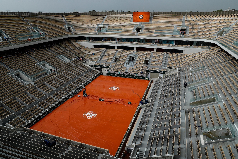Le court central Philippe chatrier, le 4 juin 2019, à Roland-Garros, dont le tournoi est attendu en cette fin d'été