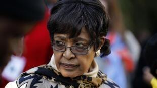 Winnie Madikizela-Mandela, l'ex-femme de Nelson Mandela.