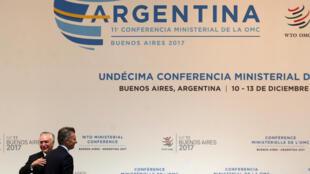 Hội nghị cấp bộ trưởng của Tổ Chức Thương Mại Thế Giới (WTO) tại Buenos Aires, Achentina, ngày 10/12/2017.
