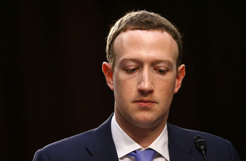 Le PDG de Facebook Mark Zuckerberg, a fait face au Sénat américain, le 10 avril 2018.