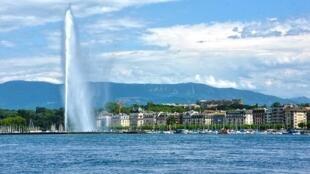 Genève et le lac Léman.