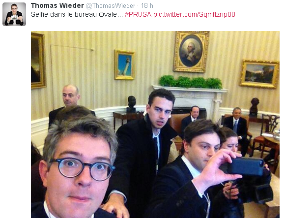 French journalist's Oval Office selfie