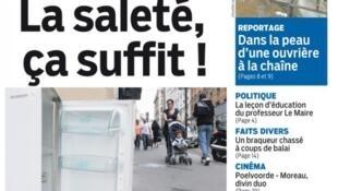 Capa do jornal francês Aujourd'hui en France.