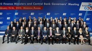រដ្ឋមន្ត្រីហិរញ្ញវត្ថុ និងប្រធានធនាគារកណ្តាលនៃក្រុមប្រទេស G20 ជួបប្រជុំគ្នានៅម៉ូស្គូថ្ងៃទី១៦កុម្ភៈ២០១៣