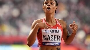 Salwa Eid Naser recorded the third fastest time in history to win the women's 400 metres title.