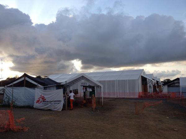 Elwa 3 à Monrovia au Liberia, le plus grand centre de traitement au monde pour les malades d'Ebola.