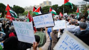 Manifestation soutien Palestiniens Montpellier