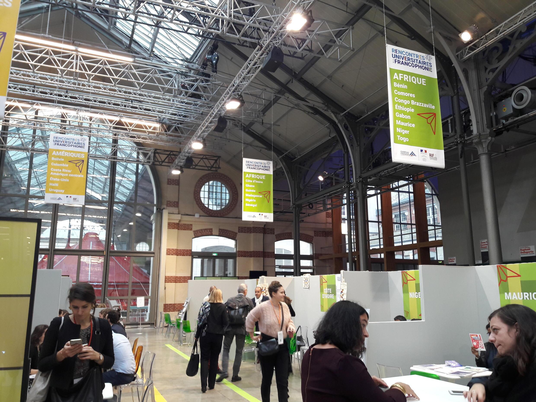 The Rencontres universitaires de la francophonie (Meeting of Francophone Universities) forum in Paris, 19-21 November 2018.
