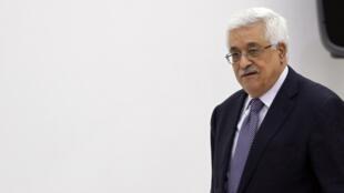 Le président palestinien a tenu une conférence de presse à Ramallah, ce samedi 8 septembre 2012.