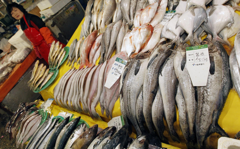 Một chợ cá tại Seoul, 29/3/2011