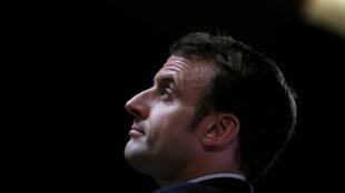 Tổng thống Pháp Emmanuel Macron phát biểu về tầm nhìn chiến lược châu Âu tại Học viện Quân sự, Paris ngày 07/02/2020.