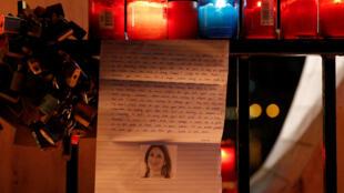 Homenaje en St Julian, Malta, a la periodista Daphne Caurana Galizia, el 16 de octubre de 2017.